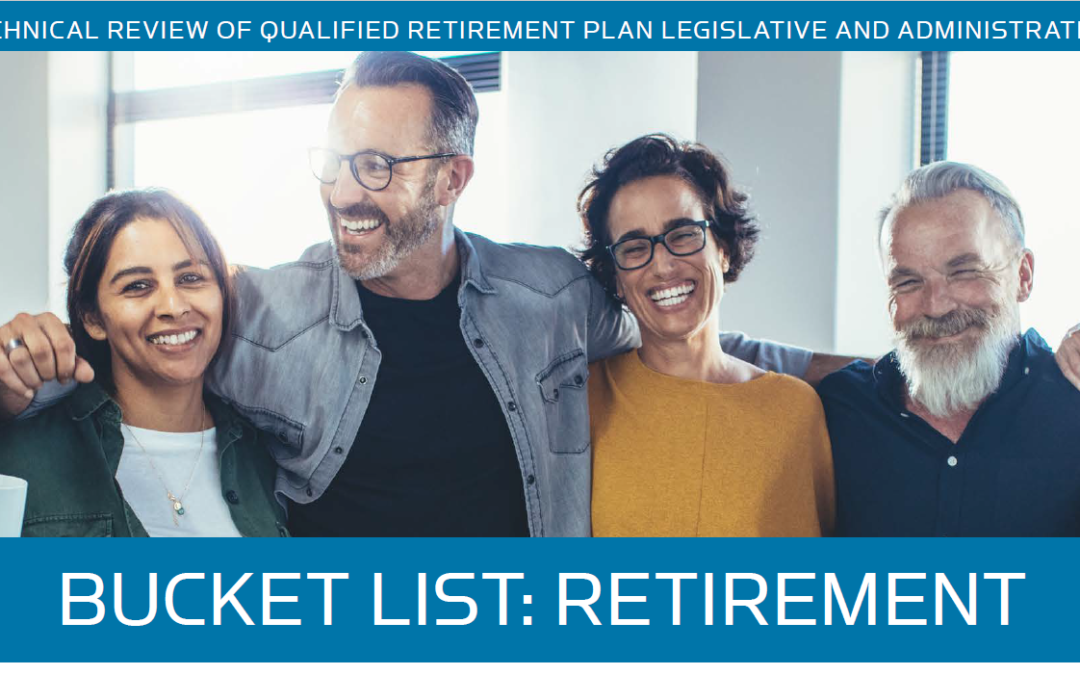 REVIEW OF QUALIFIED RETIREMENT PLAN LEGISLATION – Summer 2019 Newsletter